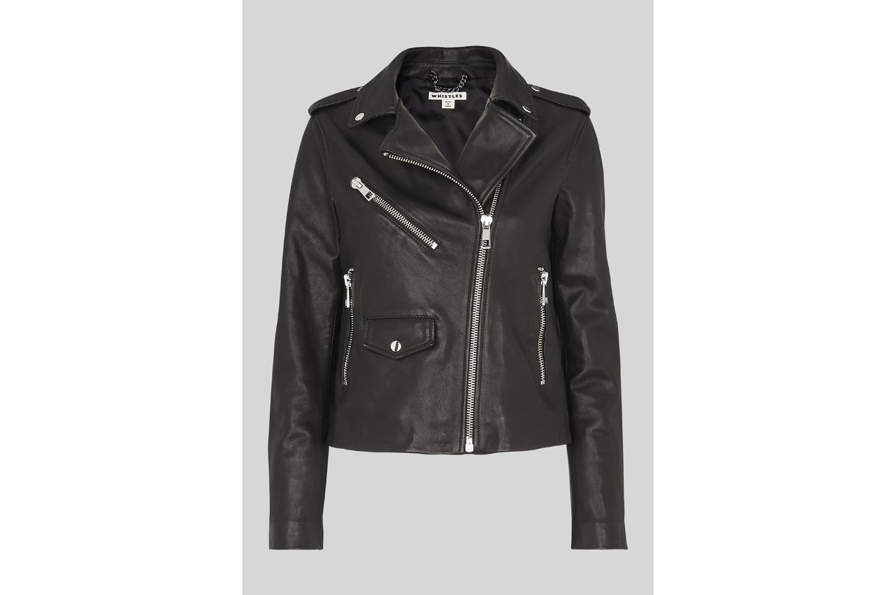 Whistles Black Leather Jacket