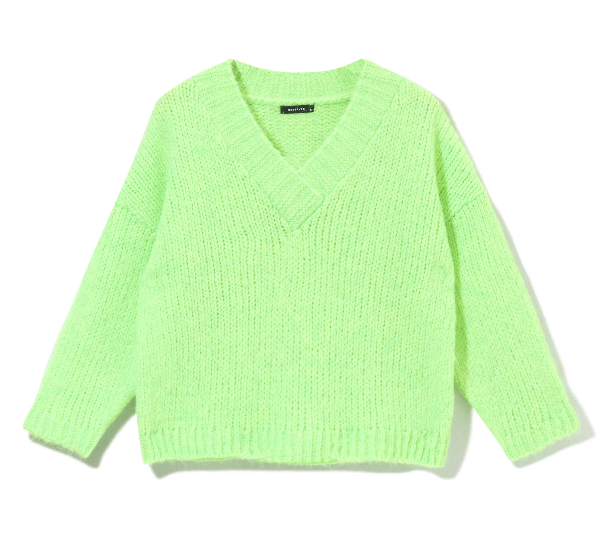 Green neon sweater from Reserved