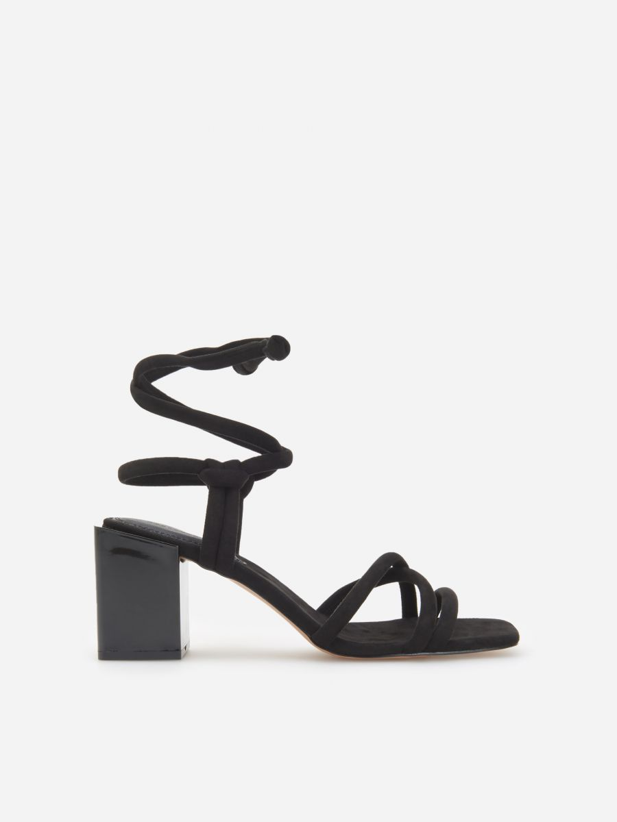 Black sandals with a block heel from Reserved